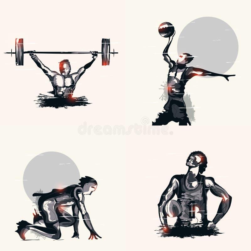Комплект различного игрока спорт бесплатная иллюстрация