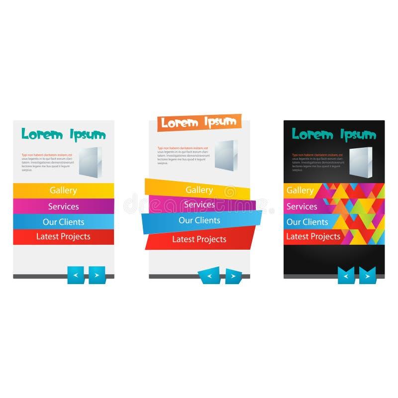 Комплект различного красочного элемента сети 3 бесплатная иллюстрация