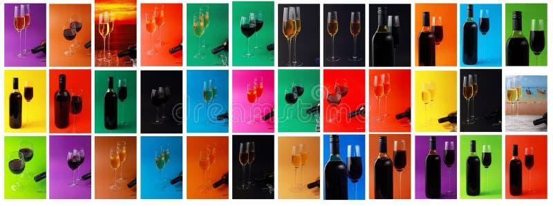 Комплект различных вина и стекел стоковое изображение rf