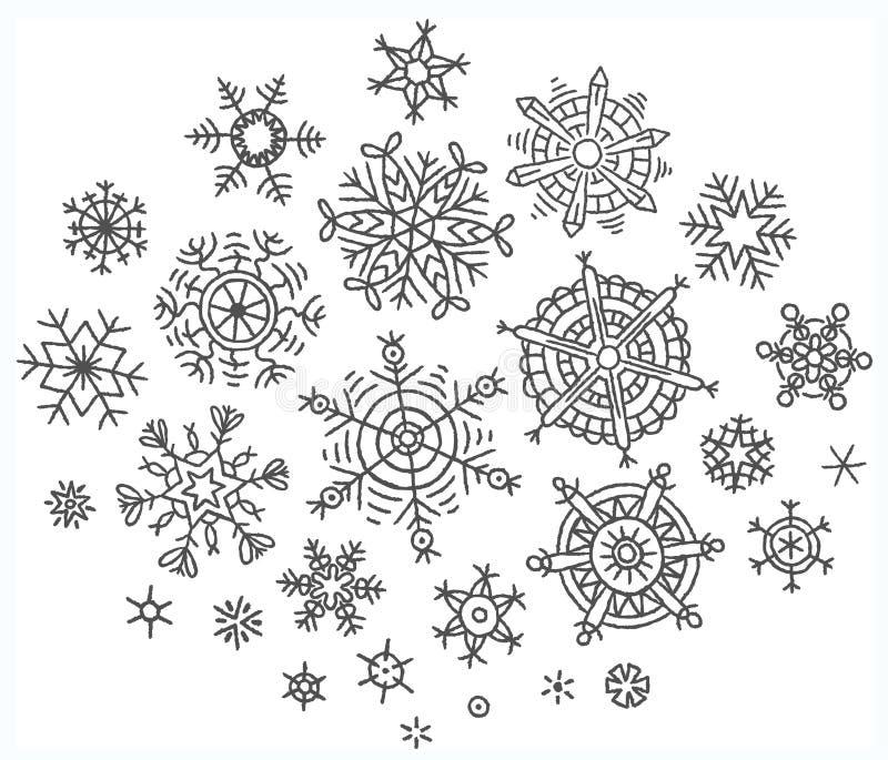 Снежинки рисунки карандашом маленькие