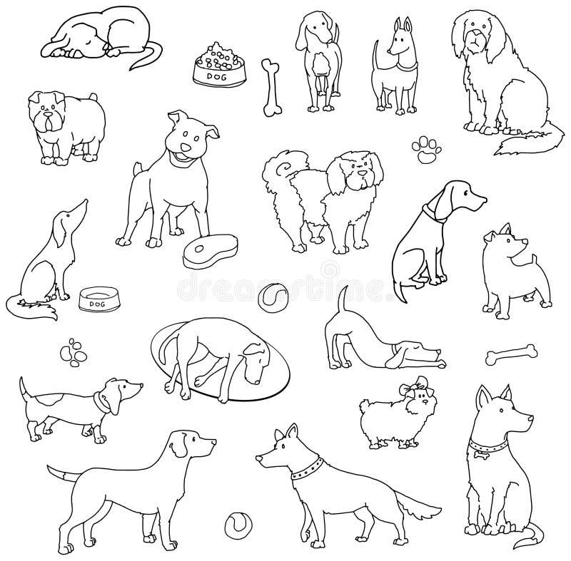 Комплект различных собак бесплатная иллюстрация