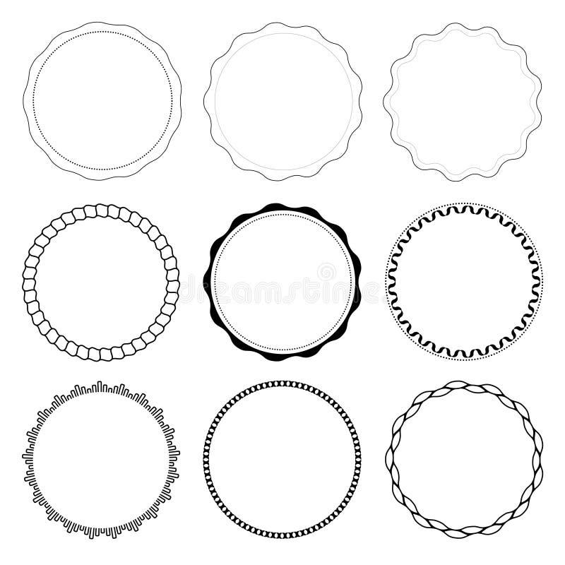 Комплект 9 рамок дизайна круга стоковая фотография
