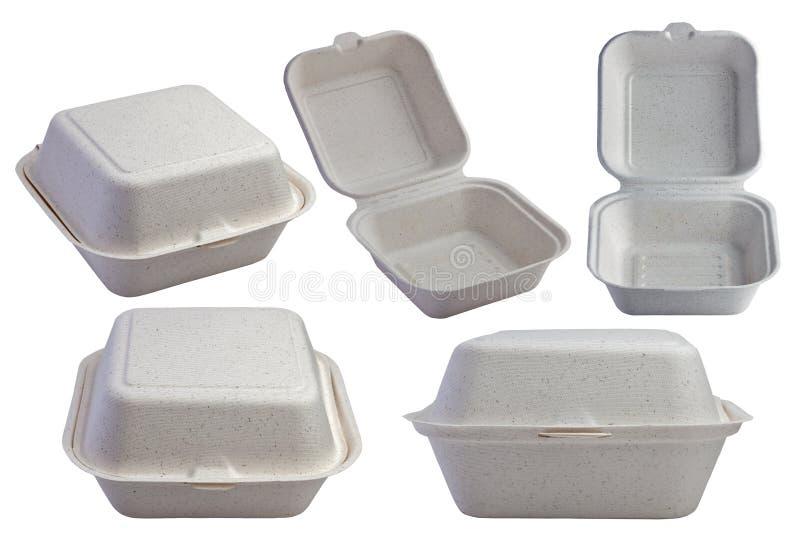 Комплект раскрытой и закрытой коробки бургера Kraft стоковая фотография rf