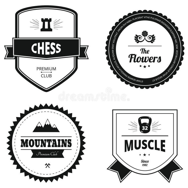Комплект ретро логотипов стоковая фотография