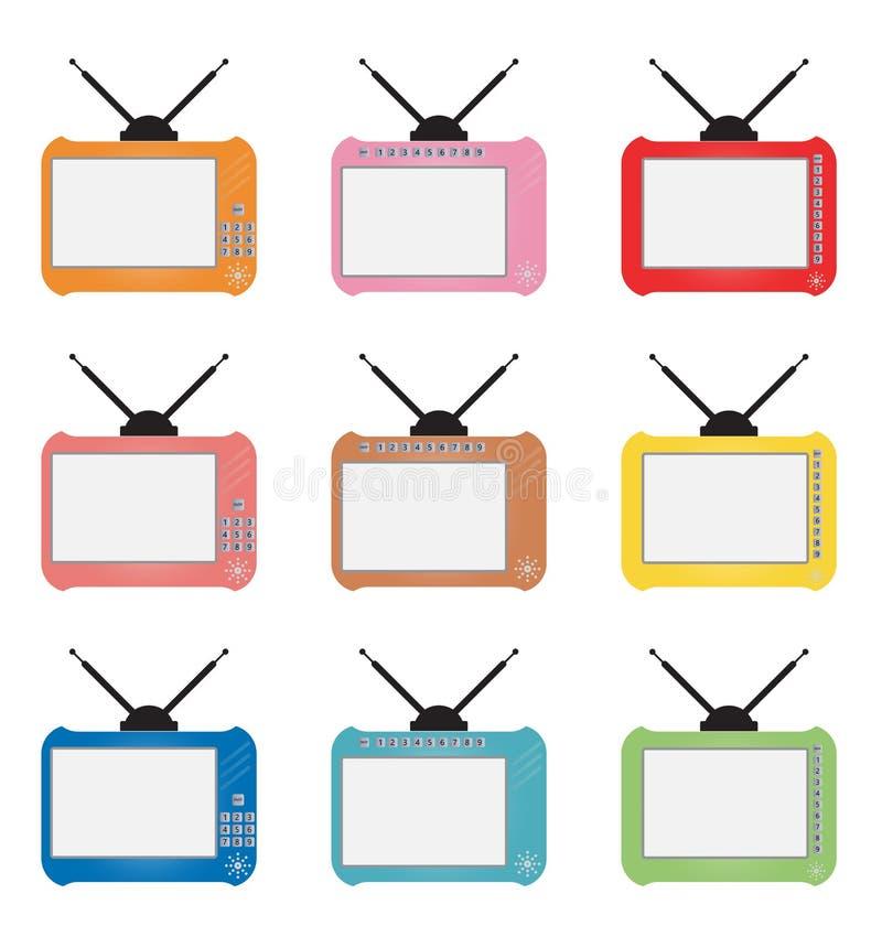 Комплект ретро телевидения числа бесплатная иллюстрация