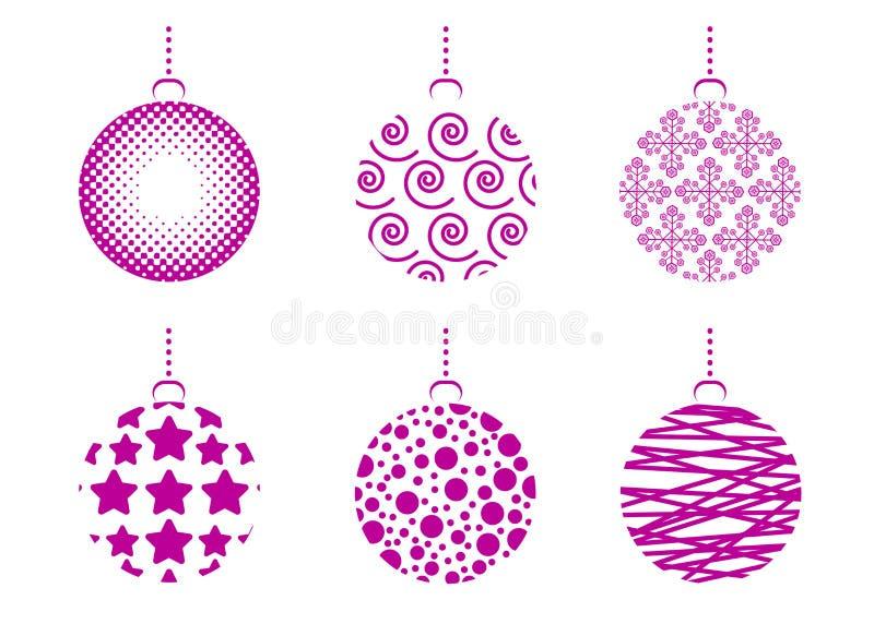 комплект рождества шариков иллюстрация штока