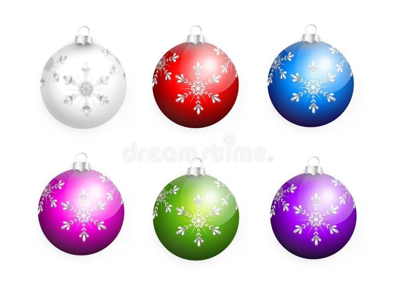 комплект рождества шариков бесплатная иллюстрация