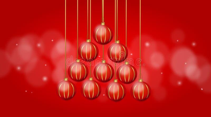 Комплект рождественской елки шариков рождества бесплатная иллюстрация