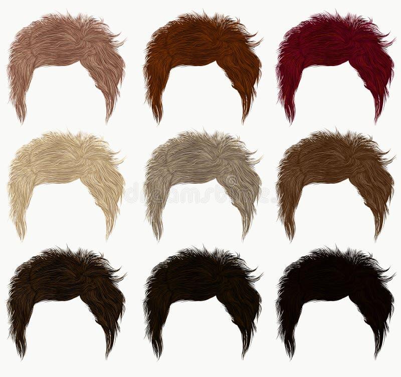 Комплект других цветов коротких волос бесплатная иллюстрация