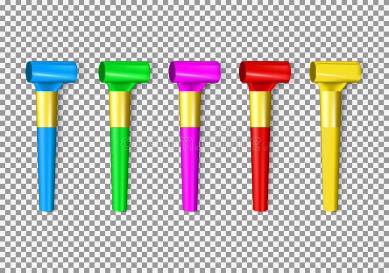 Комплект свистка пенни цвета бесплатная иллюстрация