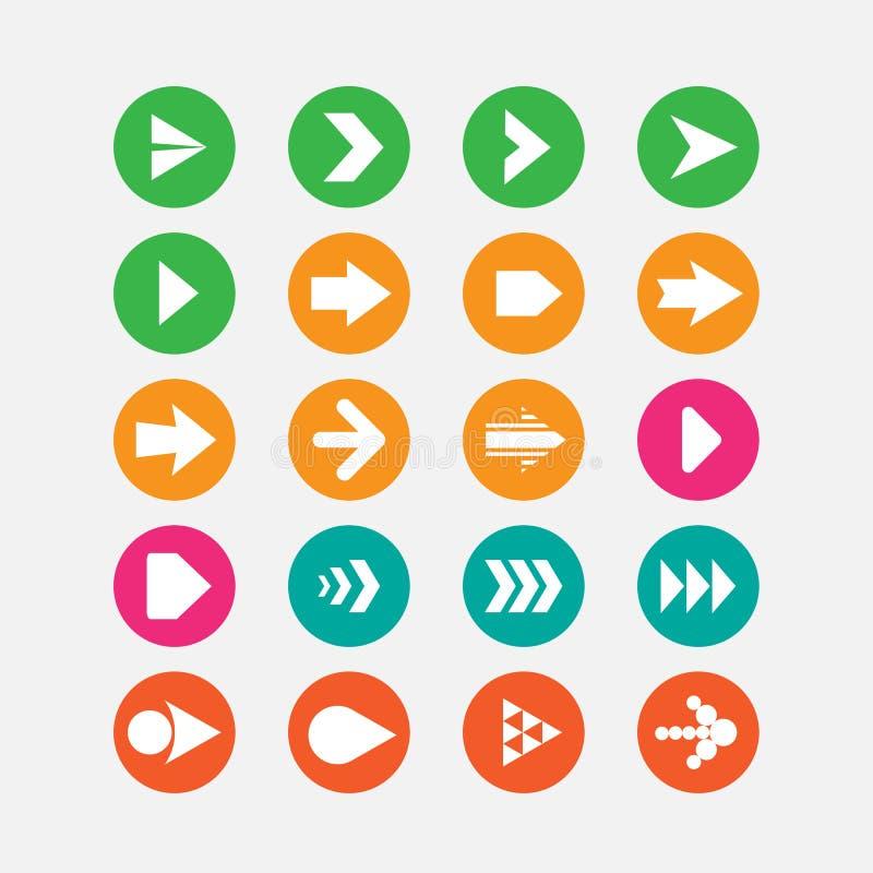 комплект серии зеленой иконы стрелки красный стоковое фото rf