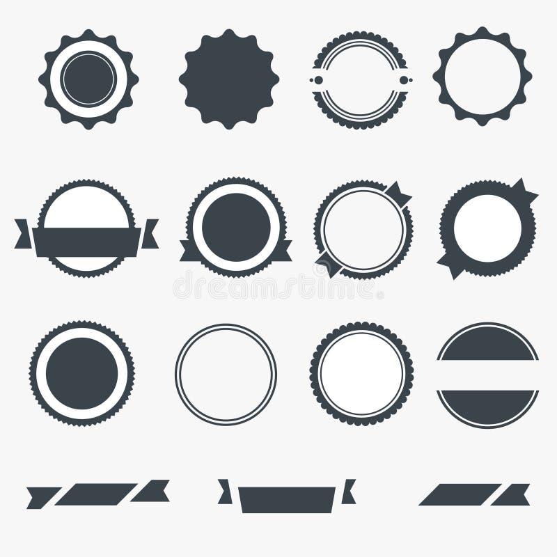 Комплект серого опорожняет ярлыки иллюстрация штока