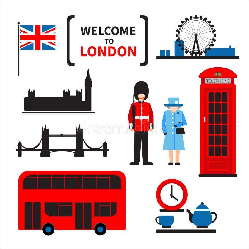 Комплект символов Лондона бесплатная иллюстрация
