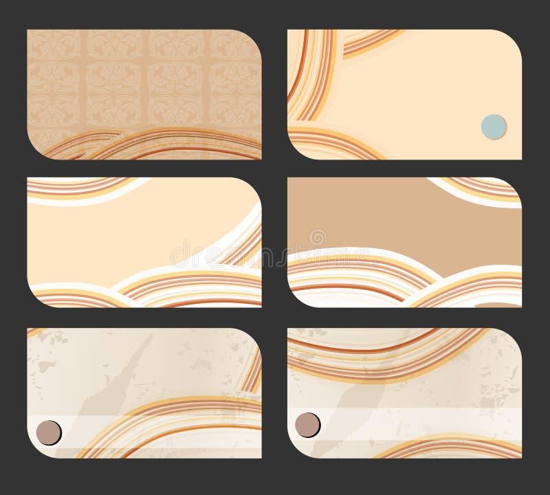 Комплект старых иллюстраций визитной карточки иллюстрация вектора