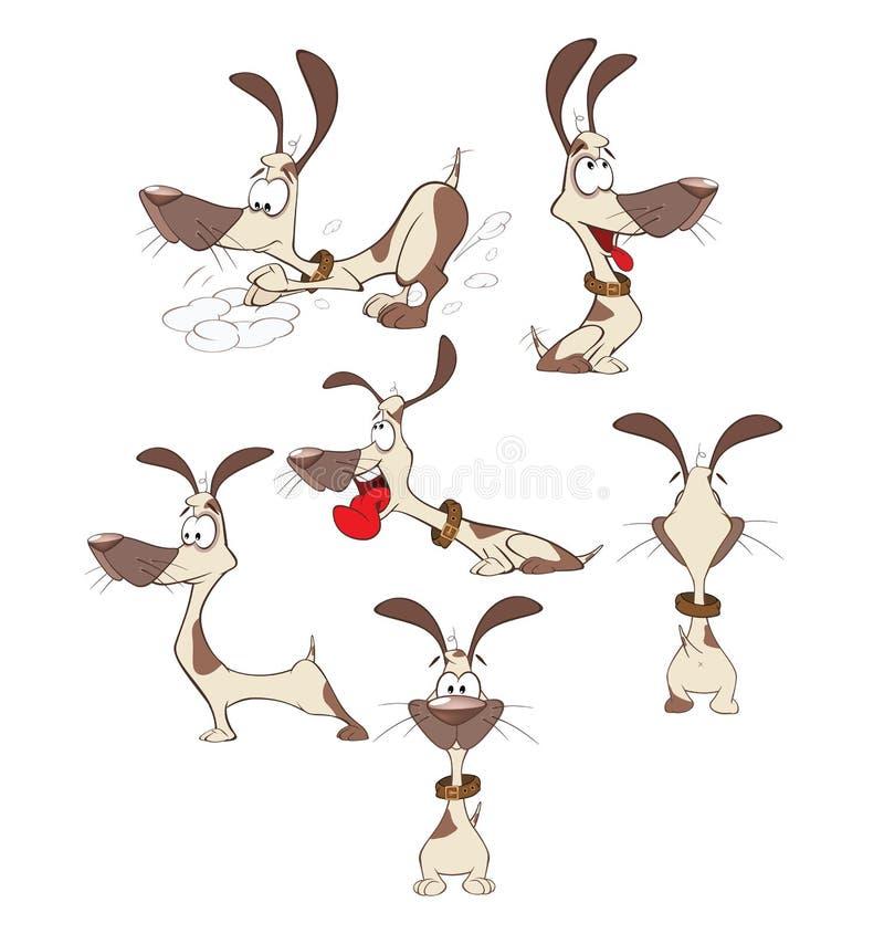 Комплект собак шаржа смешных иллюстрация штока