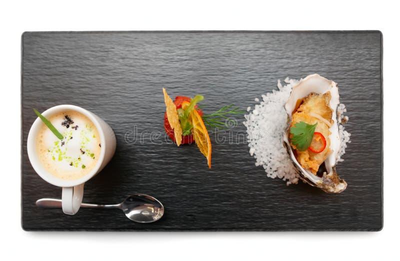 Комплект современных закусок стиля стоковое фото rf