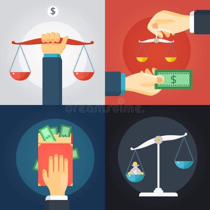 Комплект состава закона бесплатная иллюстрация