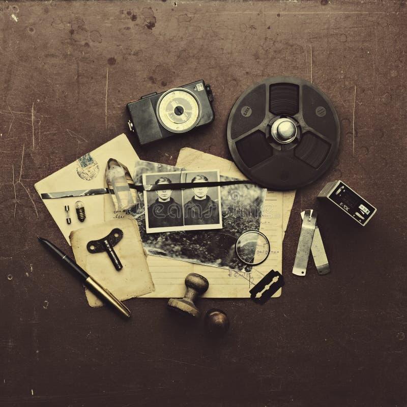 Комплект старого тайного агента стоковые фото