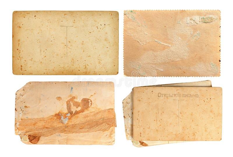 Комплект старых бумажных листов стоковое изображение