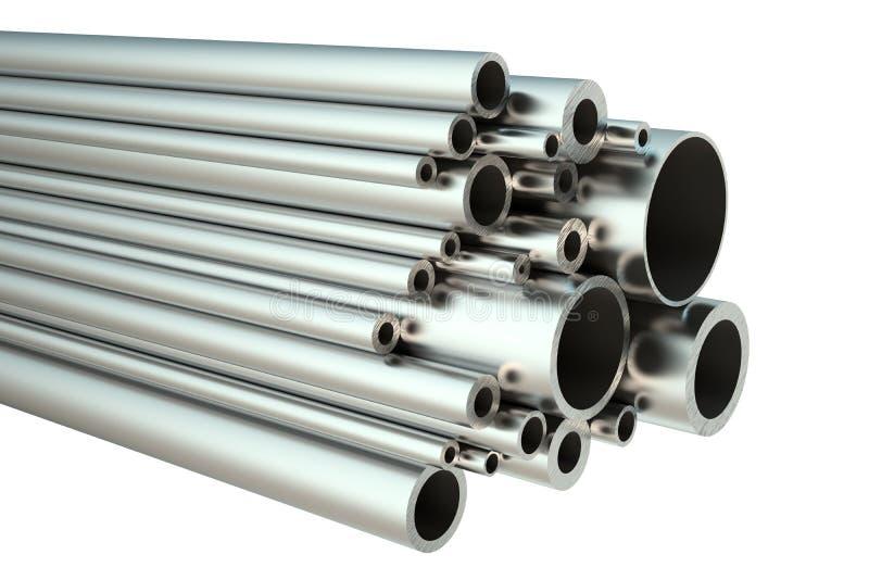 Комплект стальных труб иллюстрация штока