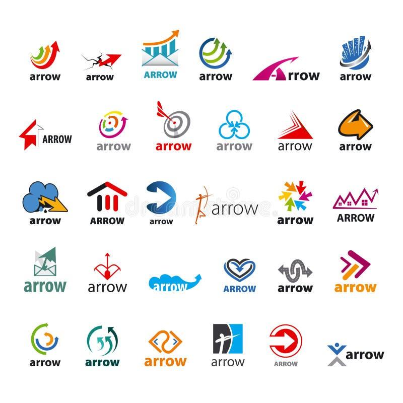 Комплект стрелки логотипов вектора иллюстрация штока