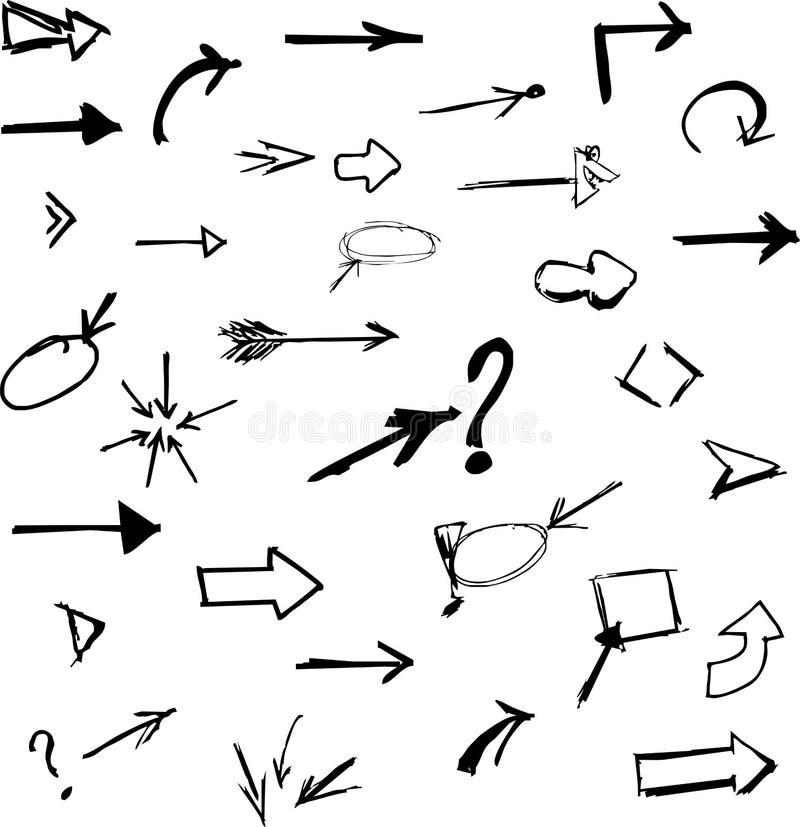 Стрелки 2 иллюстрация вектора