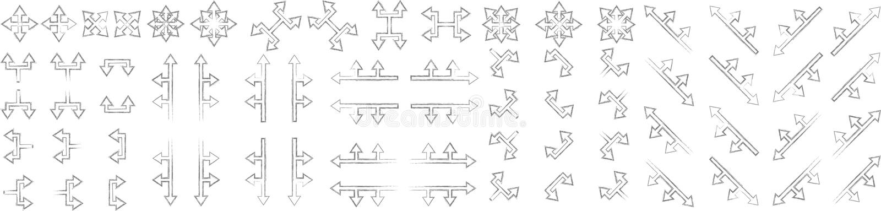 Комплект стрелок никаких 4 иллюстрация вектора