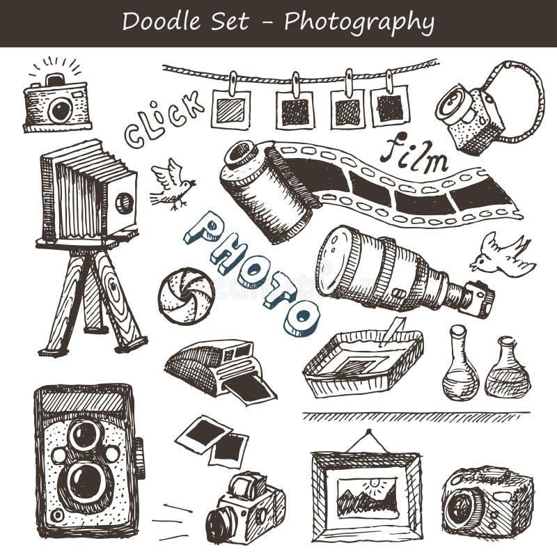 Комплект съемки Doodle стоковые изображения