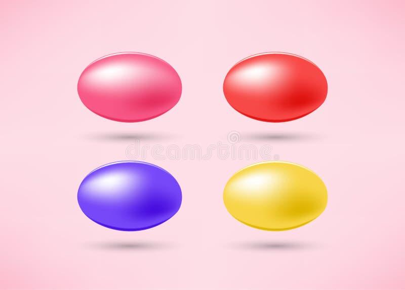 Комплект сладостных конфет бесплатная иллюстрация
