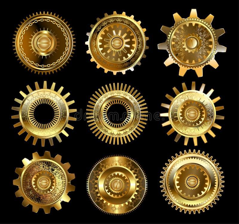 Комплект сложных шестерней бесплатная иллюстрация