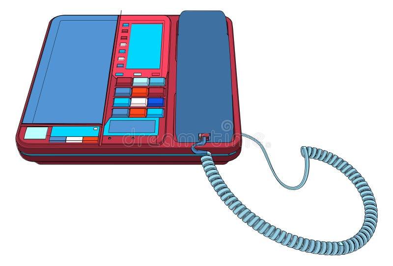 Комплект телефона IP офиса с вектором LCD бесплатная иллюстрация