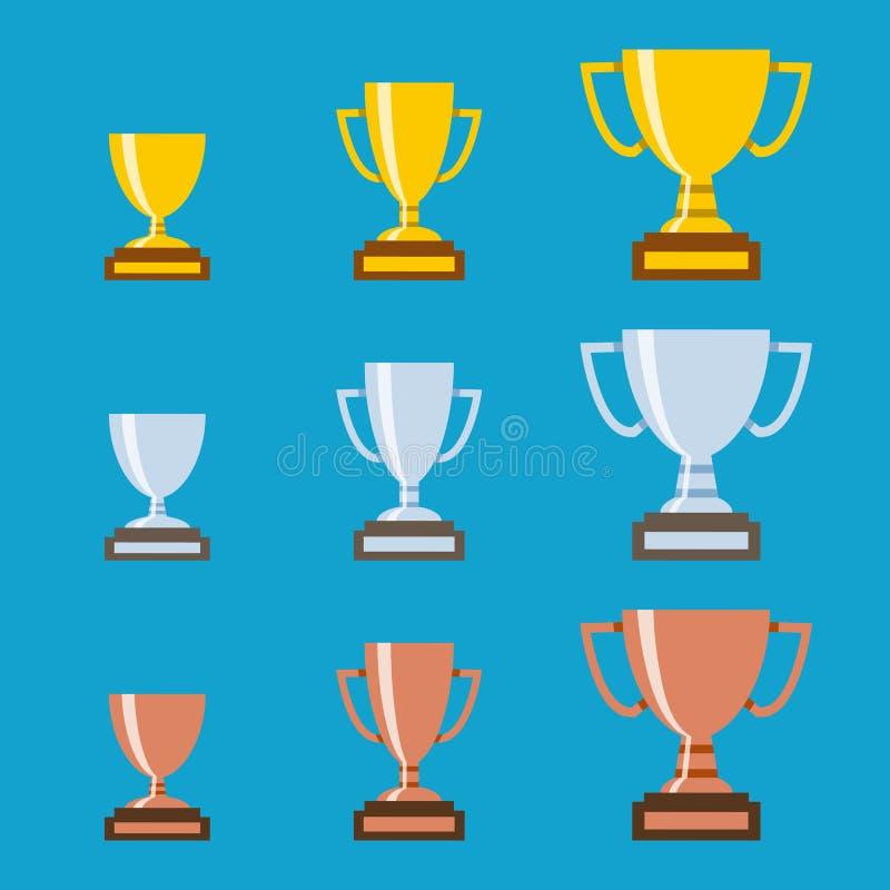 Комплект трофея чемпионов бесплатная иллюстрация