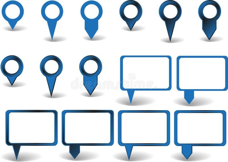 Download Комплект указателей иллюстрация вектора. иллюстрации насчитывающей комплект - 41655179