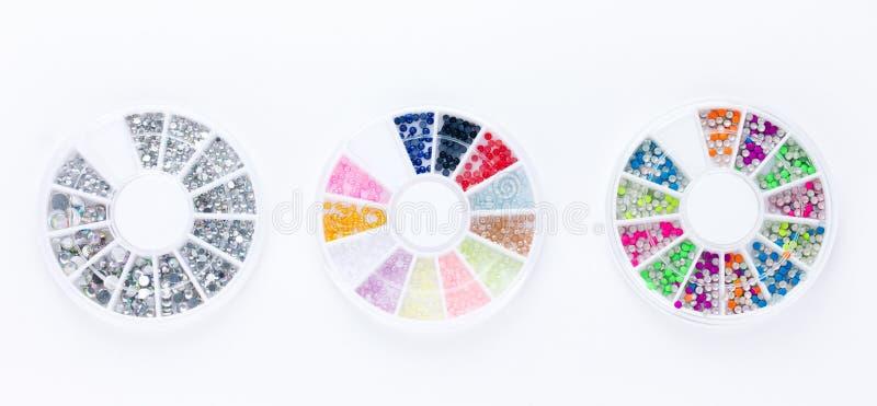 Комплект украшений искусства ногтя стоковые изображения