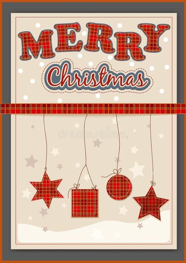 Комплект украшения рождества бесплатная иллюстрация