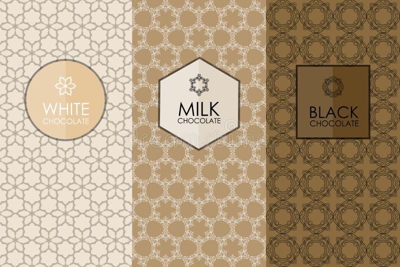 Комплект упаковки шаблонов иллюстрация штока