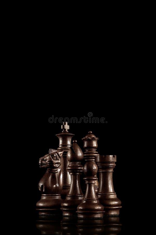 комплект ферзя короля шахмат стоковая фотография