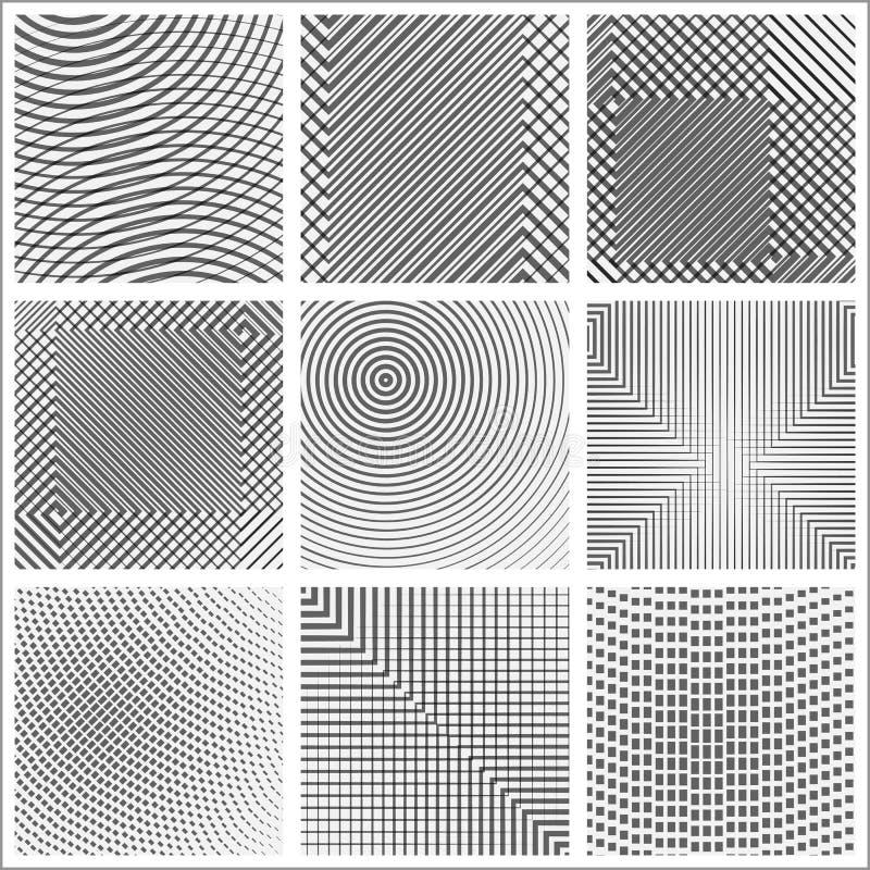 Комплект форм конспекта полутонового изображения иллюстрация вектора