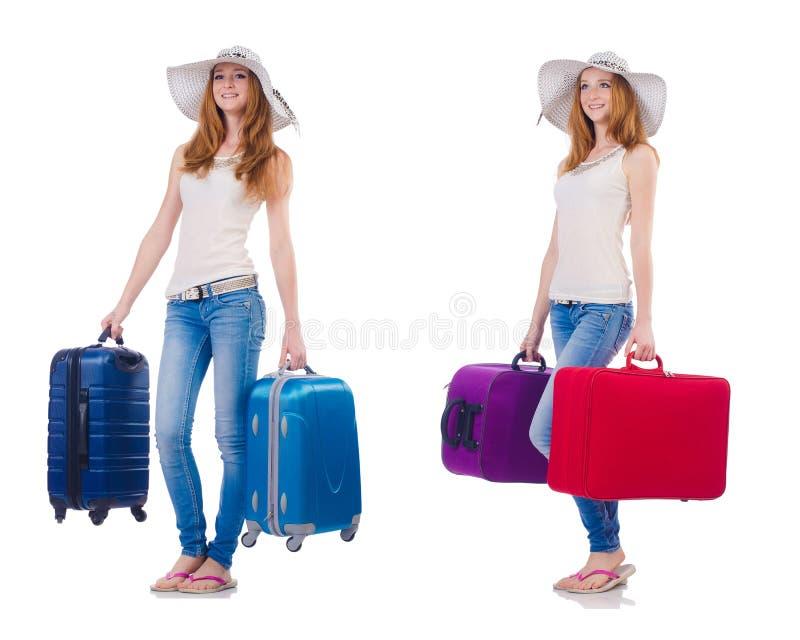 Комплект фото с путешествовать женщины стоковая фотография rf