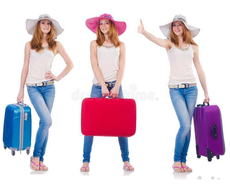 Комплект фото с путешествовать женщины стоковые фотографии rf