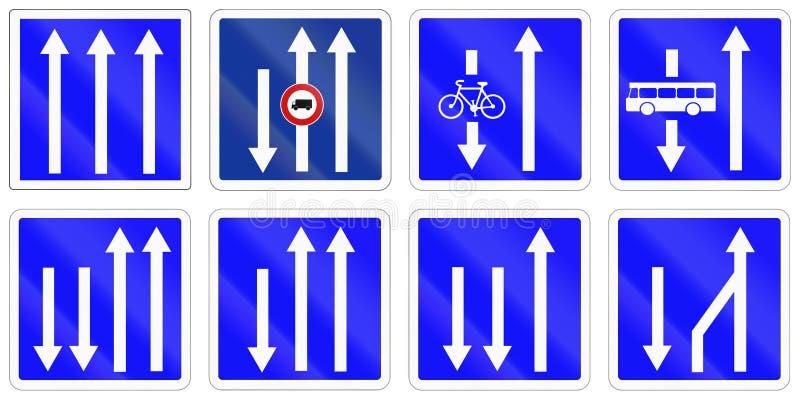Комплект французских дорожных знаков информации бесплатная иллюстрация
