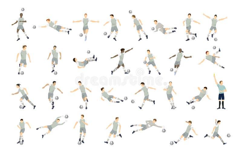 Комплект футболиста иллюстрация штока