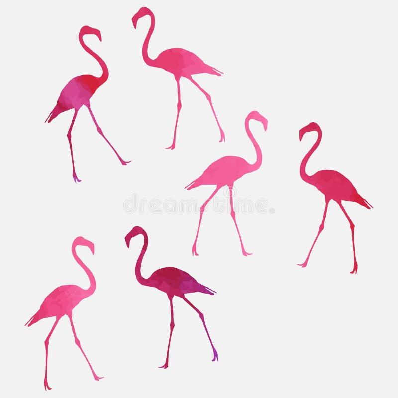 Комплект фламинго бесплатная иллюстрация