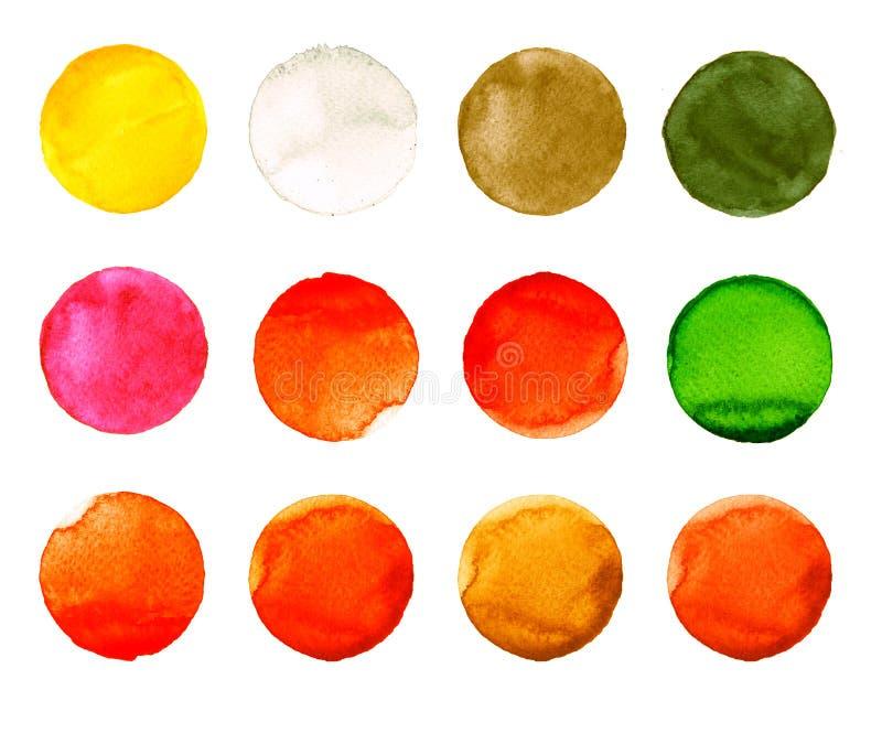 Download Комплект цветастой руки акварели покрасил круг изолированный на белизне Иллюстрация для художнического дизайна Круглые пятна, шар Иллюстрация штока - иллюстрации насчитывающей творческо, краска: 81808980