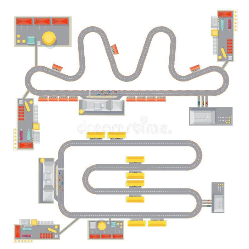 Комплект цепи мотора иллюстрация вектора