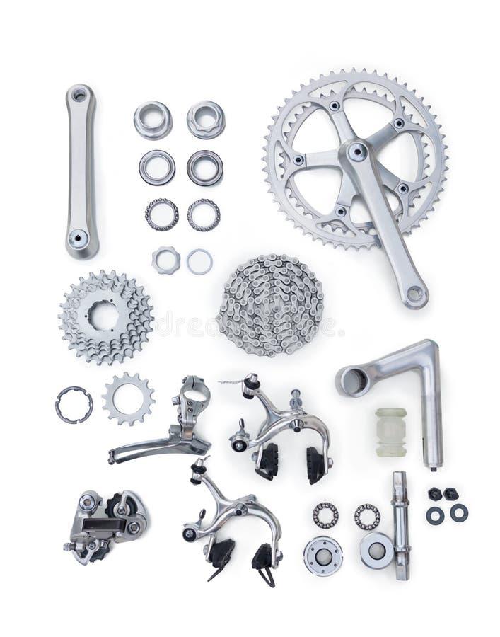 Комплект частей велосипеда запасных стоковое изображение rf