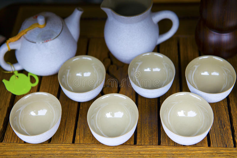Комплект чая стоковые изображения rf