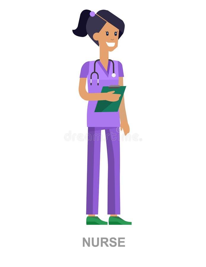 Комплект человека и женщины характера доктора иллюстрация вектора