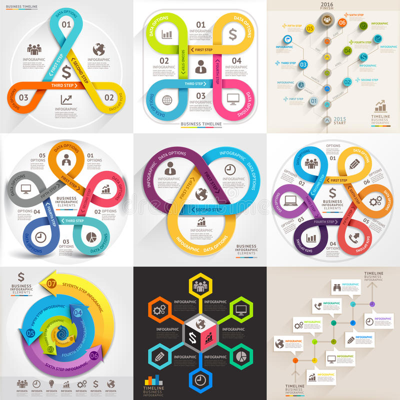 Комплект шаблона дела infographic иллюстрация штока