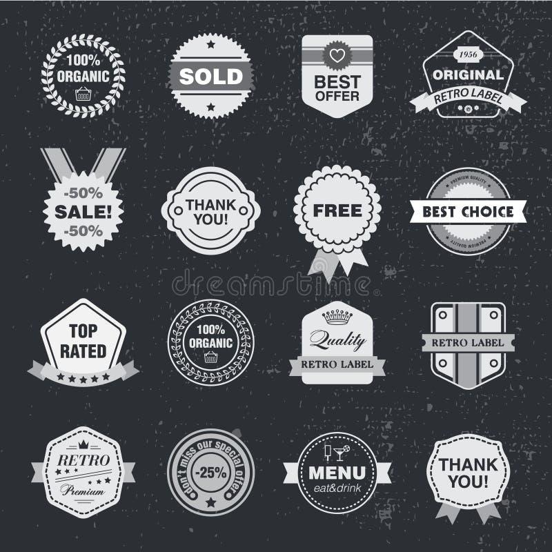 Комплект шаблона дизайна вектора, собрание для делать значок, логотип, штемпель бесплатная иллюстрация